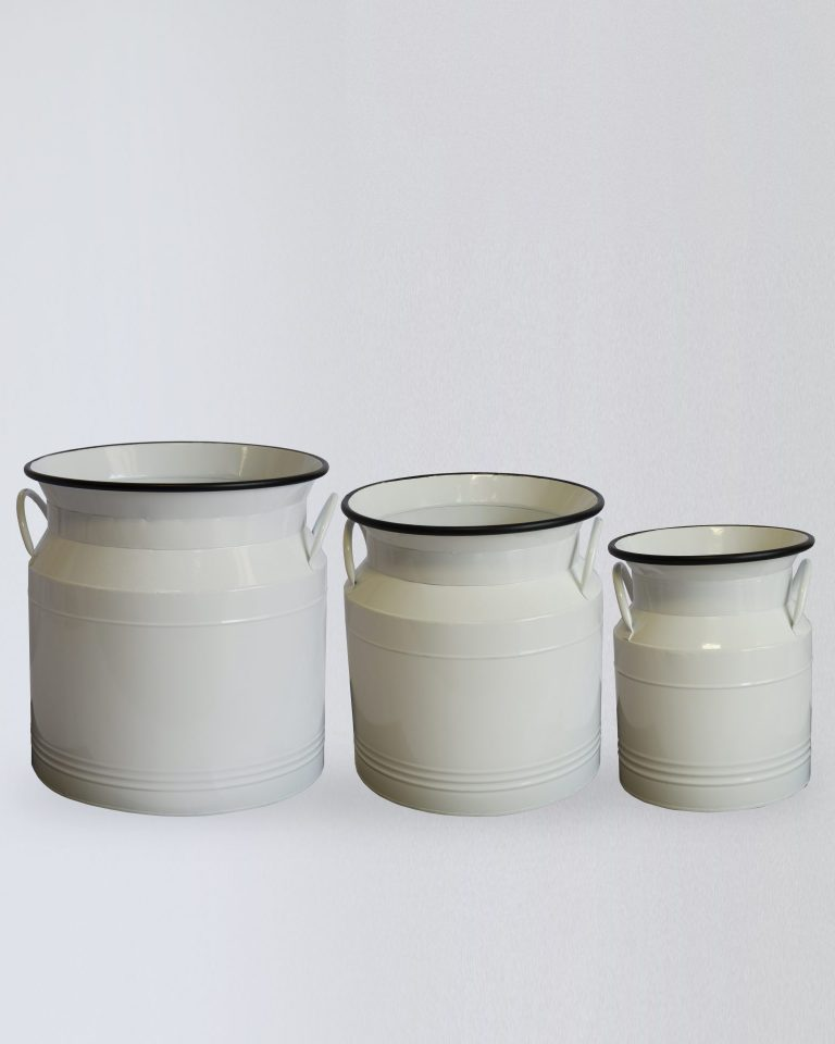 METAL ENAMEL JUG CONTAINERS Set3_480406